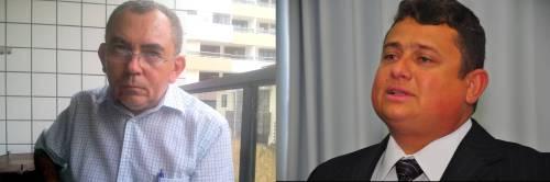 À esquerda, Pe. Bosco Nascimento - Presidente do CEDH-PB. À direita, Walber Virgolino, Secretário de Administração Penitenciária. (Foto: Joel Cavalcanti e Walter Rafael/Secom-PB)